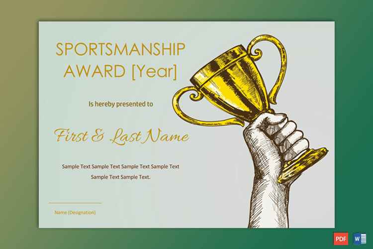 Sportsmanship Award Certificate - Soft Blue Border - Gct Pertaining To Fresh Sportsmanship Certificate Template