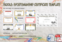 Sportsmanship Certificate Template – 10+ Great Ideas Free within Volleyball Tournament Certificate 8 Epic Template Ideas