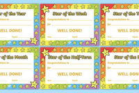 Star Of The Week Award Certificate For Good Behavior throughout Best Good Behaviour Certificate Template 10 Kids Awards