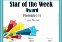 Star Of The Week Printables | Customize With Your Photo And in Star Student Certificate Template