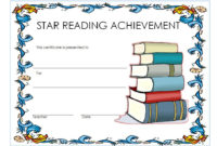 Star Reader Certificate Template Free 1 In 2020 | Reading inside Best Accelerated Reader Certificate Template Free