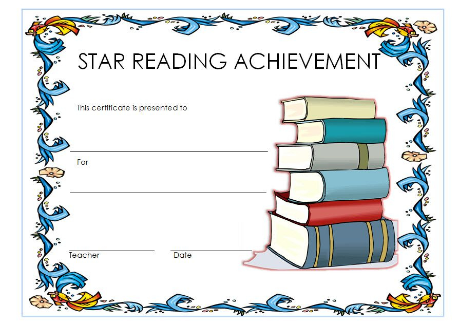 Star Reader Certificate Template Free 1 In 2020 | Reading intended for Unique Star Reader Certificate Template Free
