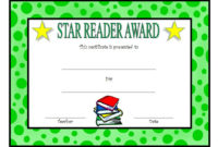 Star Reader Certificate Template Free 2 In 2020 | Reading intended for Star Reader Certificate Templates