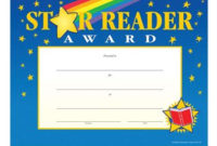 Star Reader Gold-Foil Stamped Certificates | Positive Promotions with regard to Star Reader Certificate Template