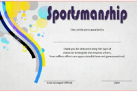Star Sportsmanship Certificate Template Free 3 In 2020 throughout Sportsmanship Certificate Template