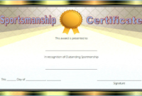 Star Sportsmanship Certificate Template Free 5 In 2020 inside Fresh Sportsmanship Certificate Template