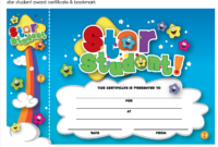 Star Student Certificate And Bookmark Freebie Download in Star Student Certificate Templates