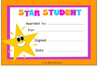 Star Student Certificate | Coloring Page | Star Students pertaining to Best Star Student Certificate Template