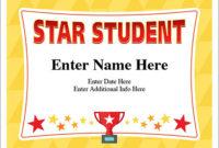 Star Student Certificate – Free Award Certificates inside Star Student Certificate Template