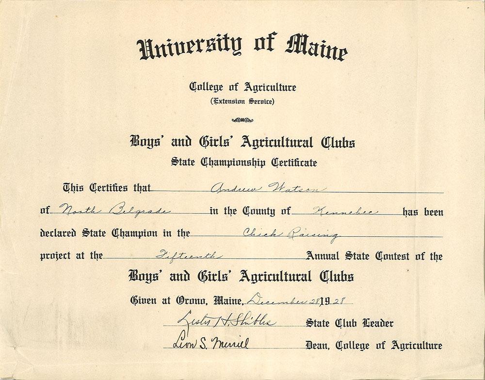 State 4-H Championship Certificate - Cooperative Extension in Certificate Of Championship