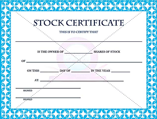 Stock Certificate Template Free In Word And Pdf With Regard To Editable Stock Certificate Template