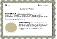 Stock Certificate Template Word (1) | Professional Templates in Fresh Certificate Of Ownership Template