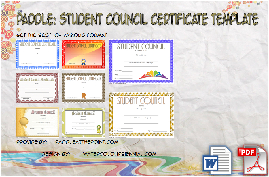Student Council Certificate Template Free Download In 2020 Throughout Unique Student Council Certificate Template 8 Ideas Free