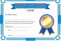 Student Council Certificates Template Best Of Student with Student Council Certificate Template