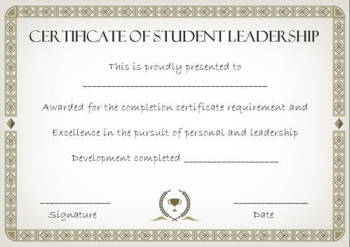 Student Leadership Certificate: 10+ Best Student Leadership For Best Student Leadership Certificate Template Ideas