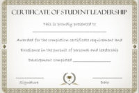 Student Leadership Certificate: 10+ Best Student Leadership inside Best Student Leadership Certificate Template