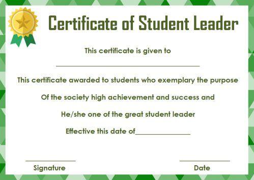 Student Leadership Certificate: 10+ Best Student Leadership intended for Best Student Leadership Certificate Template