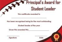 Student Leadership Certificate: 10+ Best Student Leadership regarding Student Leadership Certificate Template