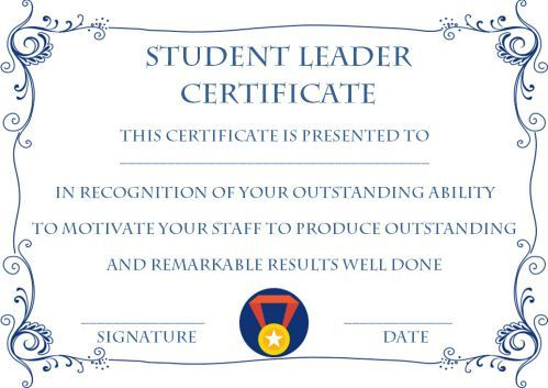 Student Leadership Certificate: 10+ Best Student Leadership Throughout Leadership Award Certificate Templates