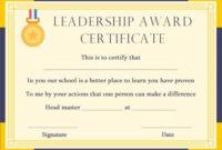 Student Leadership Certificate: 10+ Best Student Leadership throughout Student Leadership Certificate Template