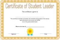 Student Leadership Certificate Template 1 Free | Student for Best Student Council Certificate Template