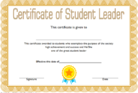 Student Leadership Certificate Template 1 Free | Student throughout Student Leadership Certificate Template