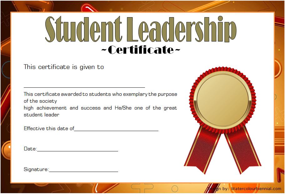 Student Leadership Certificate Template 5 Free | Student Inside Student Leadership Certificate Template