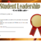 Student Leadership Certificate Template 5 Free | Student pertaining to Best Student Leadership Certificate Template Ideas