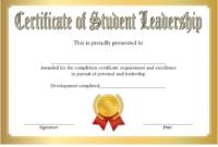 Student Leadership Certificate Template 7 Free | Student for Student Council Certificate Template