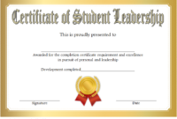 Student Leadership Certificate Template 7 Free | Student in Best Student Leadership Certificate Template Ideas