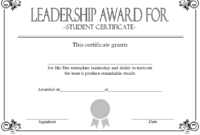 Student Leadership Certificate Template Free [10+ Ideas] with regard to Unique Student Council Certificate Template 8 Ideas Free