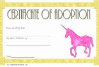 Stuffed Animal Adoption Certificate Template Unique Unicorn inside Unicorn Adoption Certificate Free Printable 7 Ideas