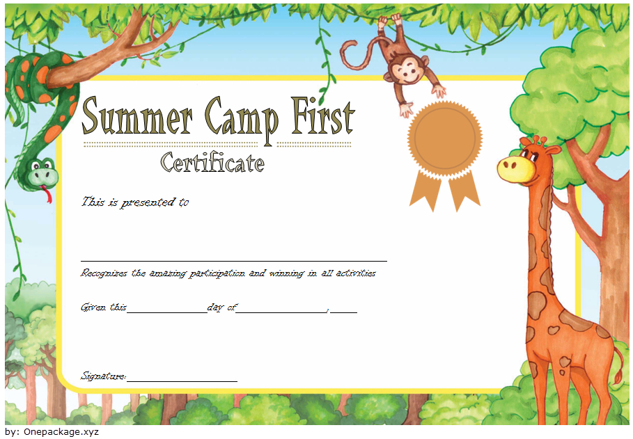 Summer Camp Certificate Template Free 1 In 2020 with regard to Certificate For Summer Camp Free Templates 2020