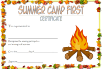 Summer Camp Certificate Template Free 3 In 2020 pertaining to Certificate For Summer Camp Free Templates 2020