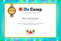 Summer Camp Certificate Template In 2020 | Summer Camps For pertaining to Certificate For Summer Camp Free Templates 2020
