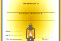 Summer Camp Participation Certificate Free Printable 2 Di 2020 inside Best Certificate For Summer Camp Free Templates 2020