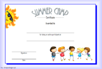 Summer Camp Participation Certificate Free Printable 4 In inside Certificate For Summer Camp Free Templates 2020