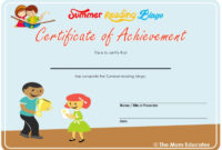Summer Reading Bingo – Free Printable – The Mum Educates regarding Summer Reading Certificate Printable