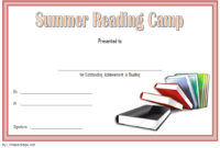 Summer Reading Certificate Template Free 2 Di 2020 pertaining to Best Certificate For Summer Camp Free Templates 2020