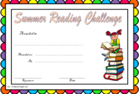 Summer Reading Challenge Certificate Free Printable 3 In in Summer Reading Certificate Printable