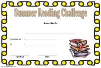 Summer Reading Challenge Certificate Free Printable 4 In pertaining to Summer Reading Certificate Printable