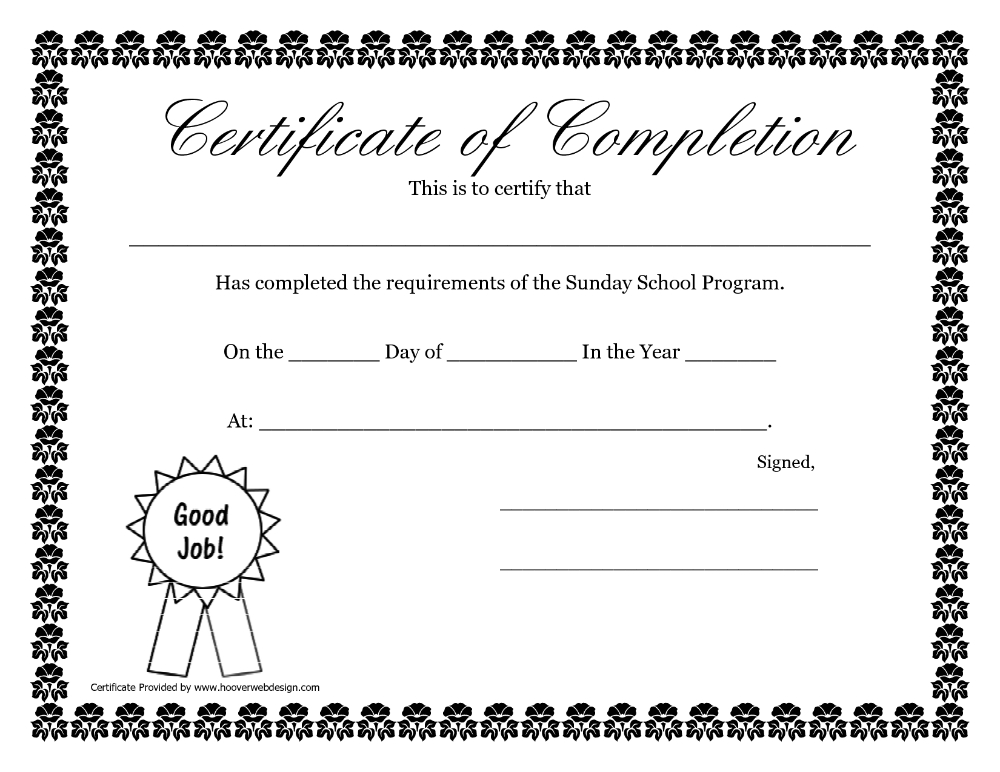 Sunday School Promotion Day Certificates Sunday School With Certificate Of School Promotion 10 Template Ideas