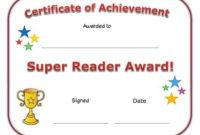 Super Reader Award Certificate | Super Reader, Reading regarding Super Reader Certificate Template