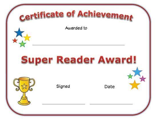 Super Reader Award Certificate   Super Reader, Reading throughout Super Reader Certificate Templates