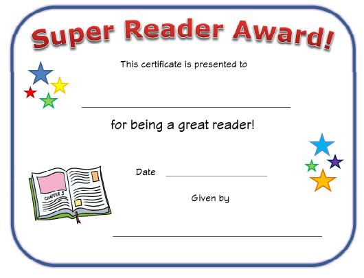 Super Reader Award Certificate Template Download Printable with Super Reader Certificate Template
