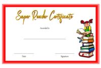 Super Reader Certificate Template 03 | Super Reader regarding Fresh Super Reader Certificate Template