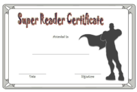 Super Reader Certificate Template 04 | Super Reader with Super Reader Certificate Template