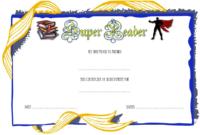 Super Reader Certificate Template 06   Super Reader in Super Reader Certificate Templates