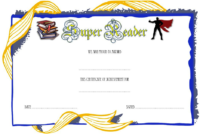 Super Reader Certificate Template 06 | Super Reader inside Super Reader Certificate Template