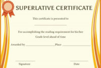 Superlative Award Certificate Templates | Awards inside Unique Certificate Of School Promotion 10 Template Ideas